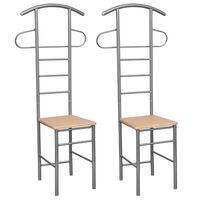 vidaXL stumtjener med stol 2 stk. metal