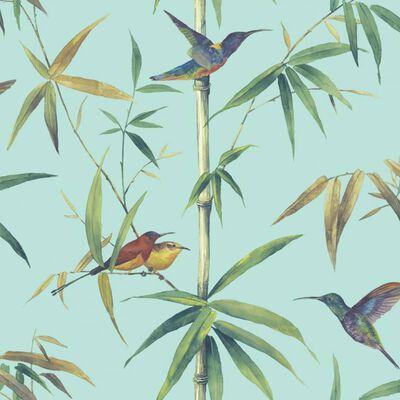 Noordwand vægtapet Kolibri and Bamboo turkis