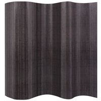 vidaXL rumdeler bambus 250x165 cm grå