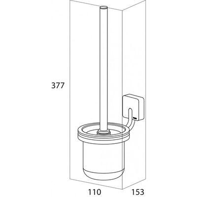 Tiger toiletbørste og holder Impuls krom 11x15,3 cm 387530346
