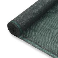 vidaXL tennisskærm HDPE 1,4 x 25 m grøn