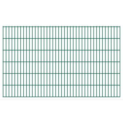 vidaXL havehegnspaneler 2D 2,008x1,23 m 38 m (total længde) grøn