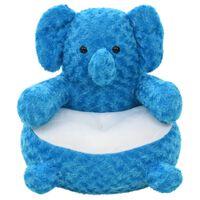 vidaXL tøjdyr elefant plys blå