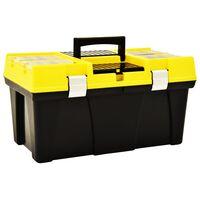 vidaXL værktøjskasse 595x337x316 mm plastik gul