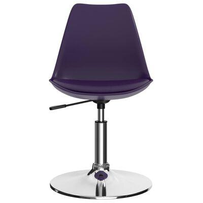 vidaXL drejelige spisebordsstole 4 stk. kunstlæder lilla