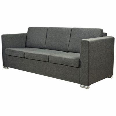 vidaXL sofasæt i to dele stof mørkegrå