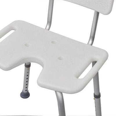 vidaXL brusestol i aluminium hvid