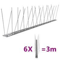 vidaXL fuglepigge 2 rækker sæt af 6 stk. 3 m
