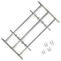 vidaXL justérbart gitter til vinduer m. 3 tværstænger 500-650 mm