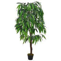vidaXL kunstig plante mangotræ med krukke 140 cm grøn