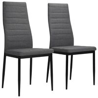 vidaXL spisebordsstol 2 stk. stof lysegrå