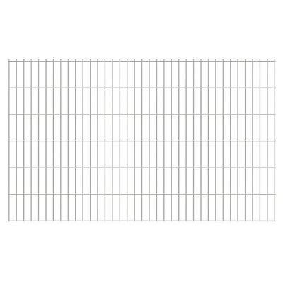 vidaXL havehegnspaneler 2D 2,008x1,23 m 42 m (total længde) sølvfarvet