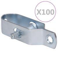 vidaXL hegnstrådstrammere 100 stk. 100 mm stål sølvfarvet