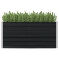 vidaXL hævet plantekasse 160 x 80 x 77 cm galvaniseret stål antracitgrå