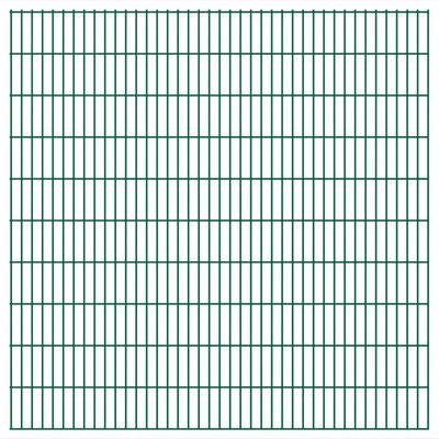 vidaXL havehegnspaneler 2D 2,008x2,03 m 22 m (total længde) grøn