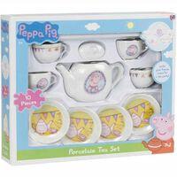 Gurli Gris / Peppa Pig, Tesæt i porcelæn (10 dele)