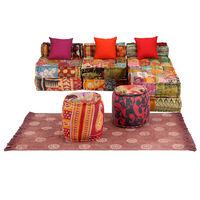 vidaXL modulært sofasæt i 14 dele stof patchwork
