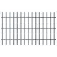 vidaXL havehegnspaneler 2D 2,008x1,23 m 28 m (total længde) grå