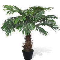 vidaXL kunstig plante cycuspalme med urtepotte 80 cm