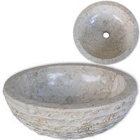 vidaXL håndvask marmor  40 cm cremefarvet