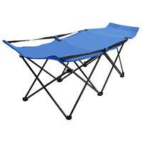 vidaXL foldbar solseng stål blå