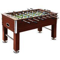 vidaXL fodboldbord 60 kg 140x74,5x87,5 cm stål brun