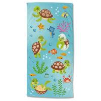 Good Morning badehåndklæde TURTLES 75x150 cm flerfarvet