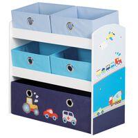 roba opbevaringsenhed til legetøj Racer blå 63,5 x 30 x 60 cm MDF