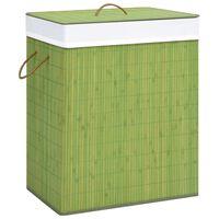 vidaXL vasketøjskurv 83 l bambus grøn