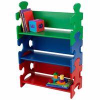 KidKraft puslespilsbogreol til børn flerfarvet 62,7 x 29,5 x 97,2 cm 14400