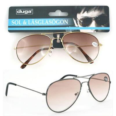 DUGA Sol / læseglas Pilot +1,00 Duga Sort