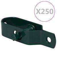 vidaXL hegnstrådstrammere 250 stk. 100 mm stål grøn