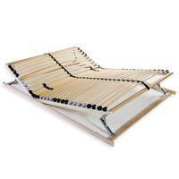 vidaXL lamelbund til seng med 28 lameller 7 zoner 100 x 200 cm