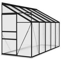 vidaXL drivhus 6,5 m² aluminium antracitgrå