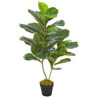 vidaXL kunstig plante violinfigen med urtepotte grøn 90 cm