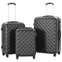 vidaXL kuffertsæt i 3 dele hardcase sort ABS