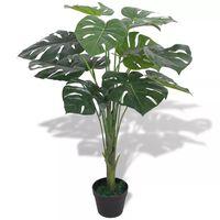 vidaXL kunstig monstera-plante med urtepotte 70 cm grøn