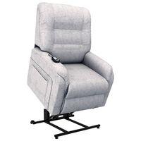 vidaXL elektrisk lænestol med løftefunktion stof lysegrå
