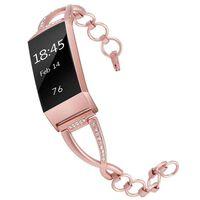 Fitbit Charge 3 armbånd roserosa - L