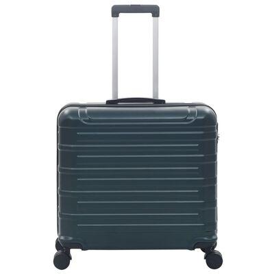 vidaXL kuffertsæt 2 dele hardcase ABS grøn