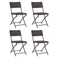 vidaXL foldbare havestole 4 stk. HDPE og stål brun