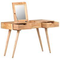 vidaXL kosmetikbord med spejl 112x45x76 cm massivt akacietræ