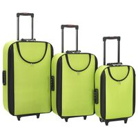 vidaXL kufferter 3 stk. blødt oxfordstof grøn