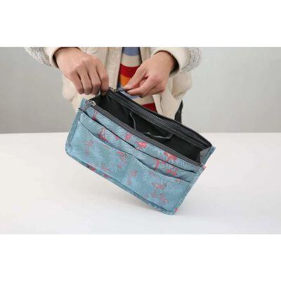 Taske i taske Håndtaskeindsats Taskeindsats Flamingo Blue