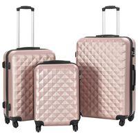 vidaXL kuffertsæt i 3 dele hardcase rosenguld ABS
