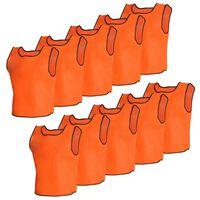 10 stk Orange Sport Bib Senior