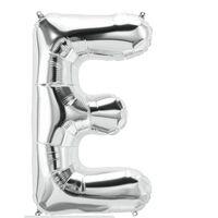 Brevballon 53 cm, bogstav E - sølv