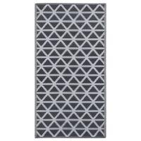 vidaXL udendørstæppe 120x180 cm PP sort