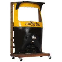 vidaXL rickshaw-vinskab 100x60x172 cm massivt genbrugstræ