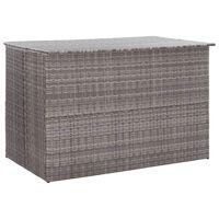 vidaXL opbevaringskasse til haven 150x100x100 cm polyrattan grå
